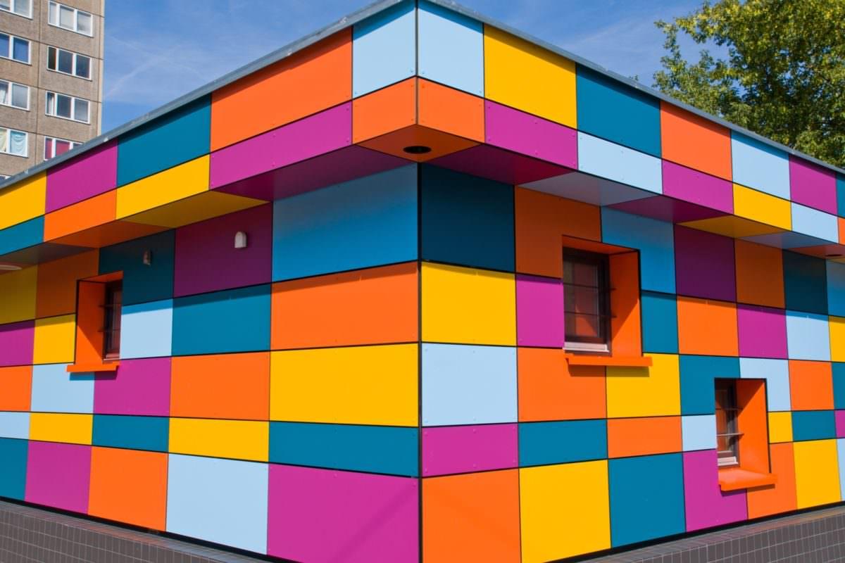 Farbiges Gebäude